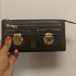 Black Leather Marc Jacobs Wristlet (Almost New)